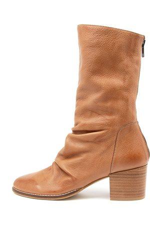 Django & Juliette Mizzly Dj Dk Tan Boots Womens Shoes Casual Calf Boots
