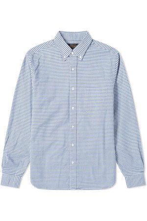 Beams Button Down Oxford Gingham Shirt