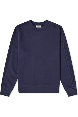 Moncler Embroidered Sleeve Logo Crew Sweat