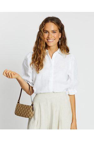 AERE Frill Sleeve Shirt - Tops Frill Sleeve Shirt