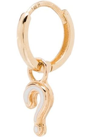 ALISON LOU 14kt gold Question Huggy hoop earring