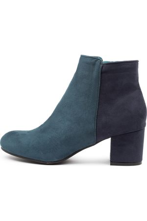 I LOVE BILLY Karda Teal Navy Boots Womens Shoes Casual Ankle Boots