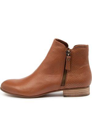 Django & Juliette Fabro Dj Cognac Print Boots Womens Shoes Casual Ankle Boots