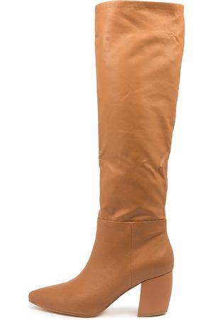 Mollini Ufreya Mo Camel Boots Womens Shoes Dress Long Boots
