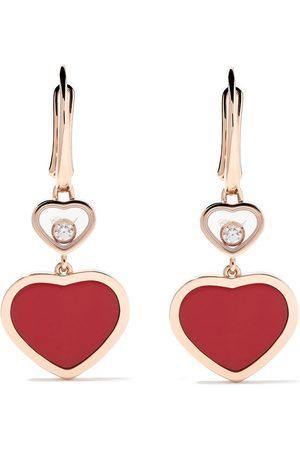 Chopard 18kt Happy Hearts diamond drop earrings