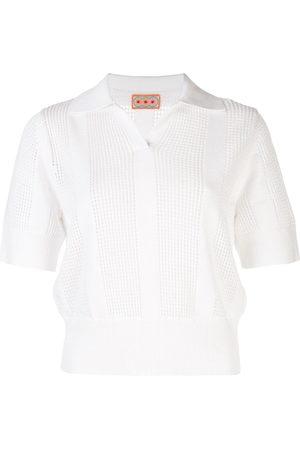 LHD Open-knit polo shirt