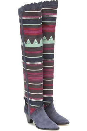 Isabel Marant Women Knee High Boots - Luiz suede over-the-knee boots
