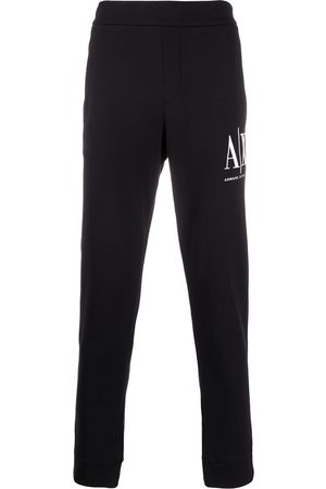 Armani Logo embroidered track pants