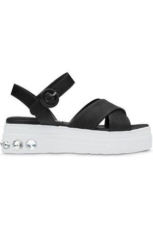 Miu Miu Women Sandals - Crystal-embellished sandals