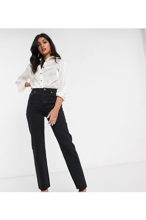 ASOS DESIGN Tall High rise 'effortless' stretch kick flare jeans in black