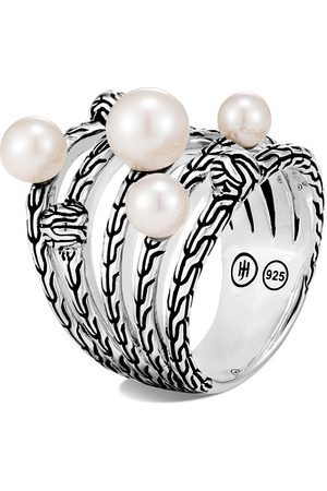 John Hardy Classic Chain' freshwater pearl sterling silver ring