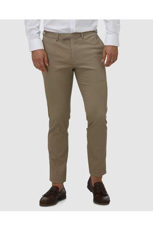 Brooksfield Men Chinos - Tapered Stewart Tailored Chinos - Pants (TAN) Tapered Stewart Tailored Chinos