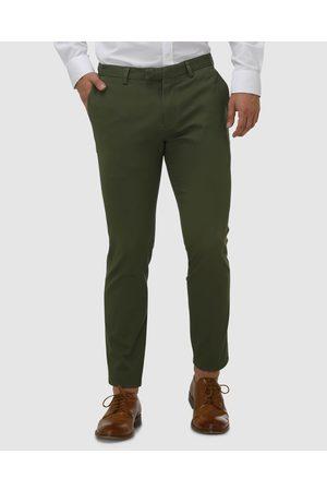 BROOKSFIELD Men Chinos - Tapered Stewart Tailored Chinos - Pants (Khaki) Tapered Stewart Tailored Chinos