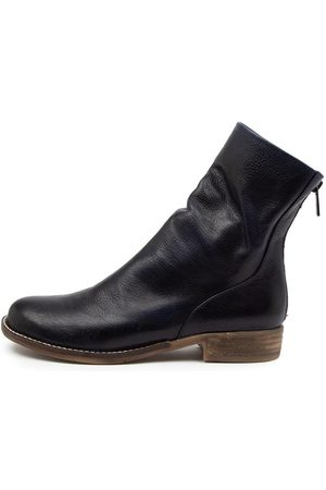 Django & Juliette Carlo Dj Navy Boots Womens Shoes Casual Ankle Boots