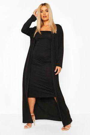 Boohoo Plus Bandeau Dress & Duster Co-Ord