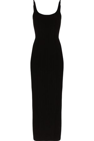 Paco rabanne Ribbed-knit maxi dress