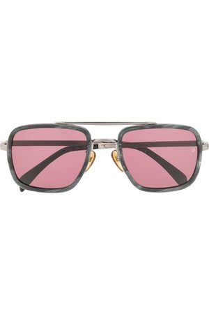 David beckham Marbled square-frame sunglasses