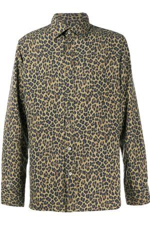 Tom Ford Leopard-print silk shirt