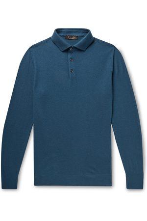 Loro Piana Men Polo Shirts - Baby Cashmere Polo Shirt