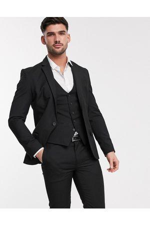 Jackets - New Look skinny suit jacket in black