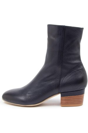 Django & Juliette Gloomie Navy Boots Womens Shoes Casual Ankle Boots