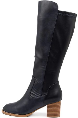 I LOVE BILLY Judd Navy Navy Boots Womens Shoes Casual Long Boots