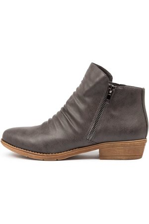 I LOVE BILLY Rosia Charcoal Boots Womens Shoes Casual Ankle Boots