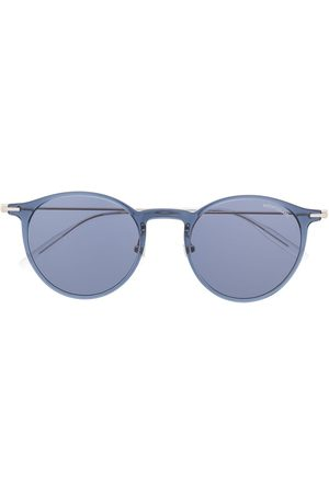 Mont Blanc Men Sunglasses - Transparent round-frame sunglasses