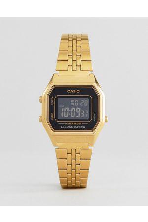 Casio LA680WEGA-1BER mini digital black dial watch-Gold