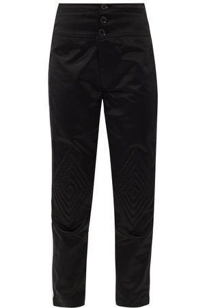 BOLT X Edie Quilted-knee High-rise Cotton Trousers - Womens