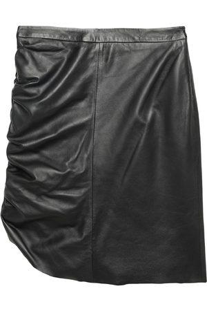 FEDERICA TOSI Women Leather Skirts - Knee length skirts