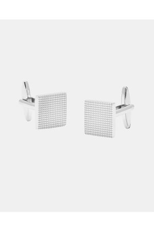 Buckle Square Grid Cufflinks - Ties & Cufflinks (Nickel Brushed) Square Grid Cufflinks