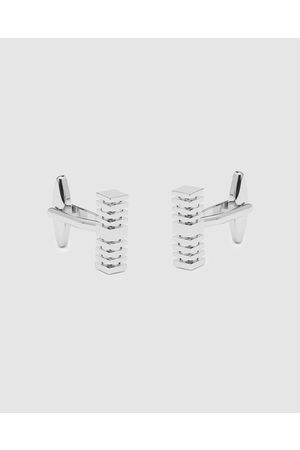 Buckle Square Rod Cufflinks - Ties & Cufflinks (Nickel Brushed) Square Rod Cufflinks