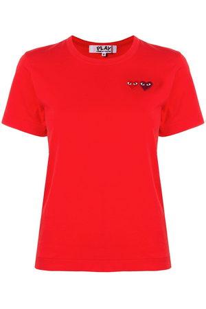 Comme des Garçons Logo embroidered crew neck T-shirt
