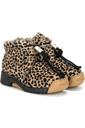 Bumper Girls Ankle Boots - Leopard pattern boots