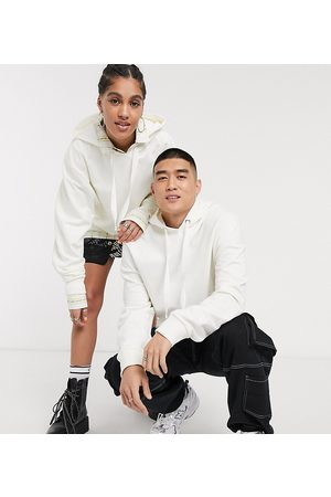COLLUSION Unisex hoodie in off-white