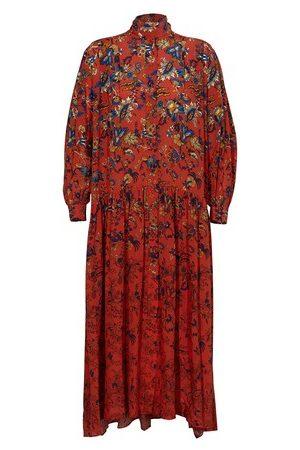 Givenchy Long floral print silk dress