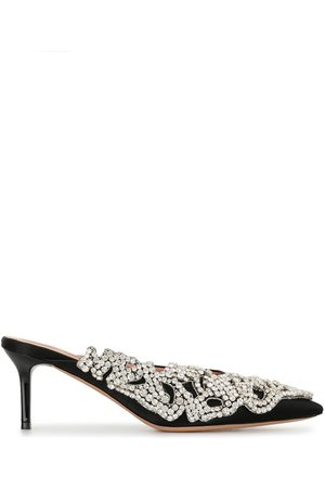 Rochas Pointed embellished mules