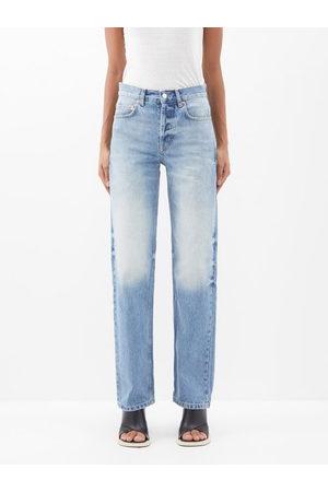 Raey Open Unisex Faded Wide-leg Jeans - Womens - Light