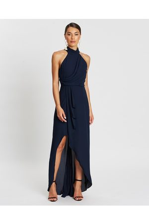 Montique Natalia Halter Gown - Bridesmaid Dresses (Navy) Natalia Halter Gown