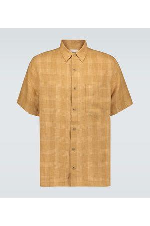 Nanushka Adam checked linen shirt