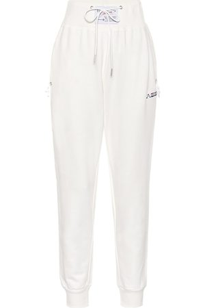 Adam Selman Sport Women Pants - High-rise cotton-blend trackpants