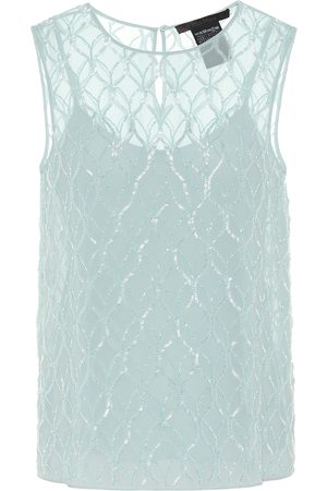 Max Mara Nogara beaded georgette top