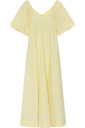 CO Tton-blend poplin dress