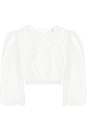Rhode Casper embroidered cotton crop top