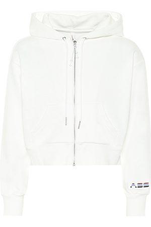 Adam Selman Sport Cropped cotton-blend hoodie