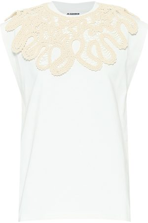 Jil Sander Embroidered cotton T-shirt