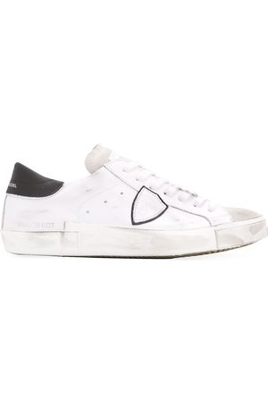 Philippe model Distressed effect low-top sneakers