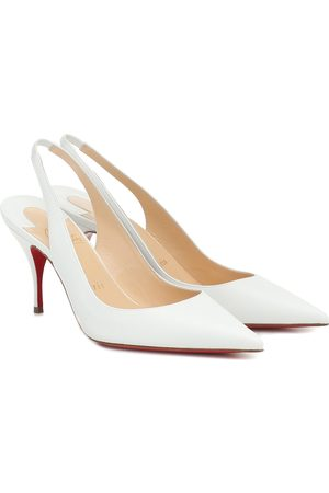 Christian Louboutin Women Heels - Clare Sling 80 leather pumps