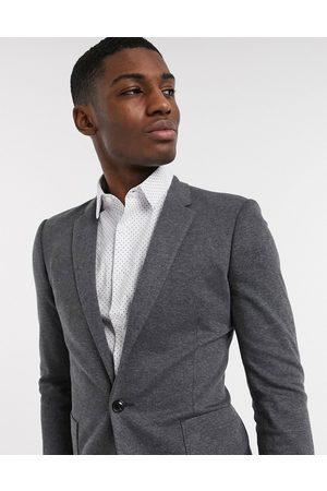 ASOS DESIGN super skinny jersey blazer in charcoal-Grey